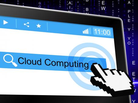 Free Stock Photo of Cloud Computing Means Information Technology And Cloud-Computing