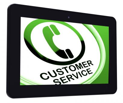 Free Stock Photo of Customer Service Tablet Means Call For Help