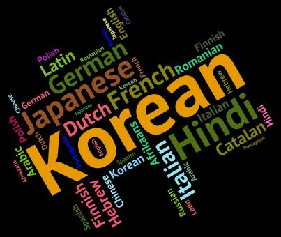 Free Stock Photo of Korean Language Represents Wordcloud Languages And Word