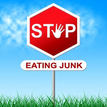 Free Stock Photo of Stop Eating Junk Indicates Fast Food And Control