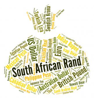 Free Stock Photo of South African Rand Indicates Exchange Rate And Coinage