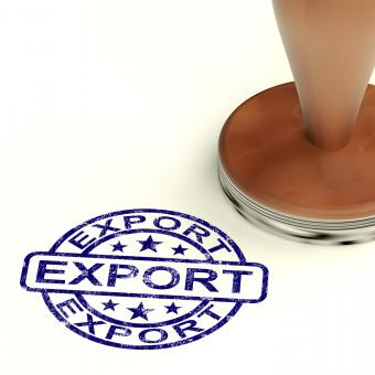 Free Stock Photo of Export Stamp Showing Global Distribution And Shipping