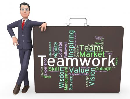 Free Stock Photo of Teamwork Words Means Teams Unit And Unity