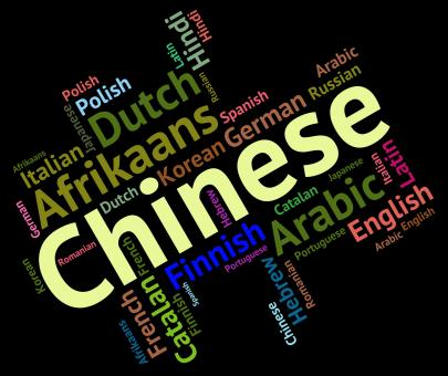 Free Stock Photo of Chinese Language Indicates Speech Wordcloud And Word