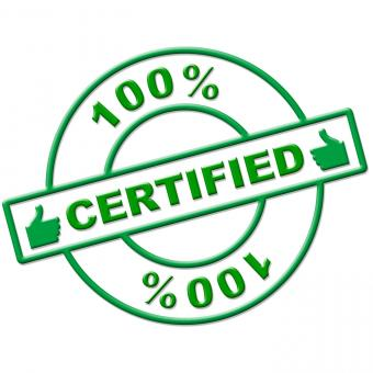 Free Stock Photo of Hundred Percent Certified Indicates Authenticate Absolute And Verify