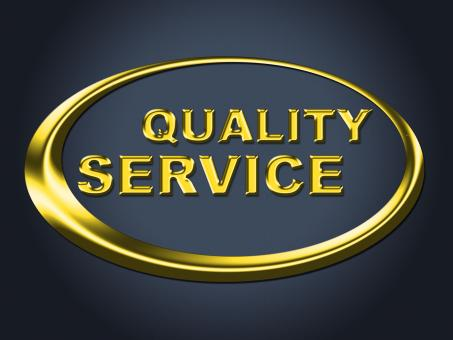 Free Stock Photo of Quality Service Sign Represents Help Desk And Advice