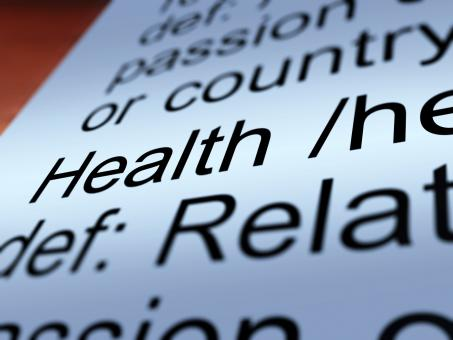 Free Stock Photo of Health Definition Closeup Showing Wellbeing Or Healthy