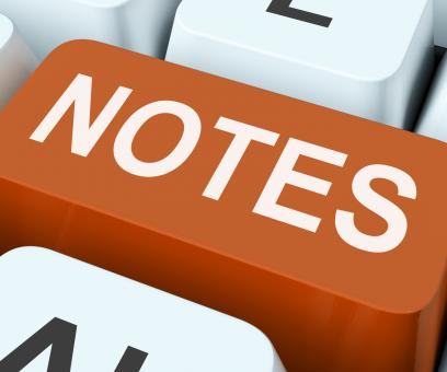Free Stock Photo of Notes Key Shows Information Reminders Or Info