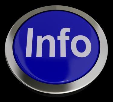Free Stock Photo of Info Button In Blue Showing Information And Support