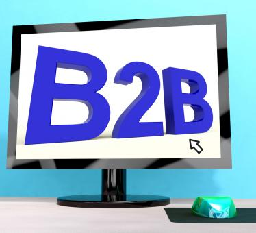 Free Stock Photo of B2b Word On Computer Shows Business And Commerce