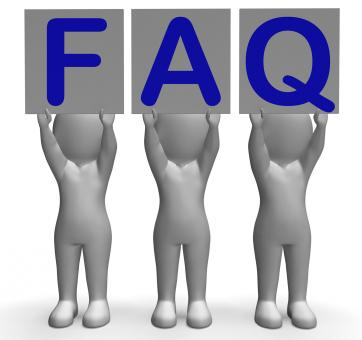 Free Stock Photo of FAQ Banners Shows Frequent Assistance And Support