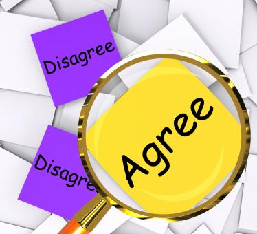 Free Stock Photo of Agree Disagree Post-It Papers Show In Favor Of Or Against