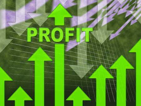 Free Stock Photo of Profit Graph Shows Growth Earning And Income
