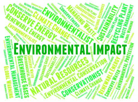 Free Stock Photo of Environmental Impact Shows Words Earth And Environmentally