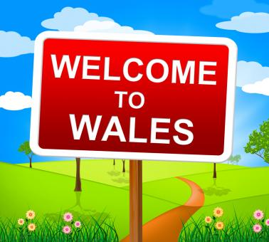 Free Stock Photo of Welcome To Wales Means Invitation Countryside And Nature