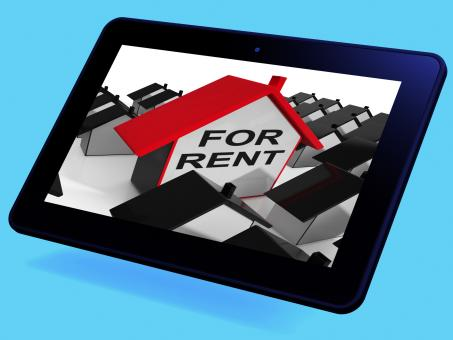 Free Stock Photo of For Rent House Tablet Means Leasing To Tenants