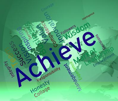 Free Stock Photo of Achieve Words Represents Successful Resolution And Victory