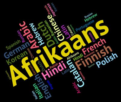 Free Stock Photo of Afrikaans Language Means South Africa And Dialect