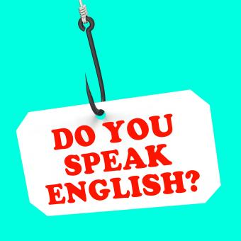 Free Stock Photo of Do You Speak English On Hook Means Foreign Language Learning