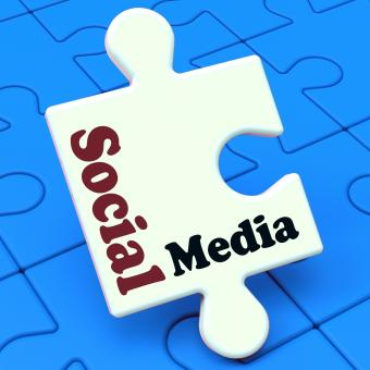 Free Stock Photo of Social Media Puzzle Shows Online Community Relation