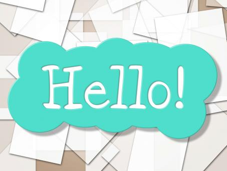 Free Stock Photo of Hello Sign Shows How Are You And Greetings