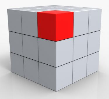 Free Stock Photo of Distinct Block Showing Standing Out