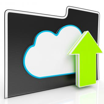 Free Stock Photo of Upload Arrow And Cloud File Showing Uploading