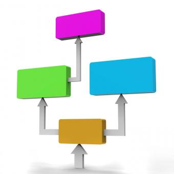Free Stock Photo of Flow Diagram Represents Charting Organizations And Graph
