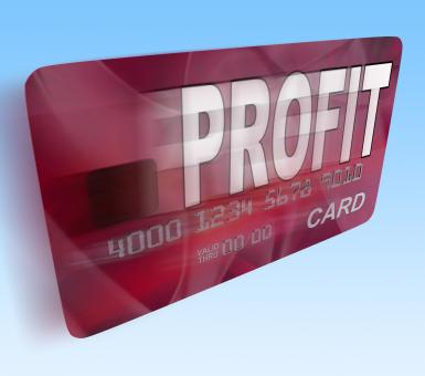 Free Stock Photo of Profit on Credit Debit Card Flying Shows Earn Money