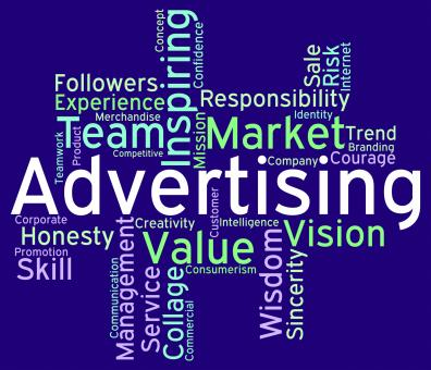 Free Stock Photo of Advertising Wordcloud Means Advertisements Promotion And Adverti
