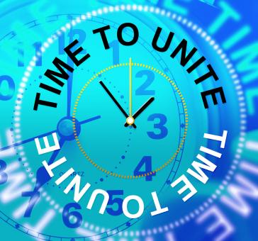 Free Stock Photo of Time To Unite Indicates Team Work And Collaborate