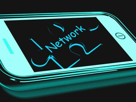 Free Stock Photo of Network Smartphone Shows Connecting And Communicating On Web