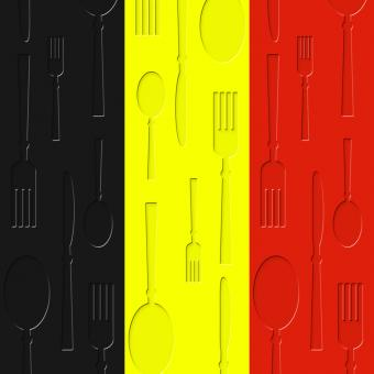 Free Stock Photo of Belgian Food Shows Foods Cafe And Dining
