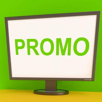 Free Stock Photo of Promo Screen Shows Promotional Discounts And Rebate