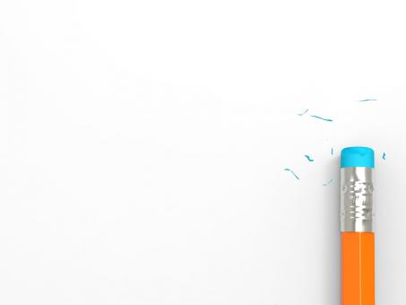 Free Stock Photo of Copyspace Paper With Pencil Eraser Shows Erased Text Copy Space