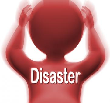 Free Stock Photo of Disaster Man Means Crisis Calamity Or Catastrophe