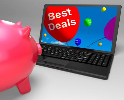 Free Stock Photo of Best Deal On Laptop Showing Great Deal