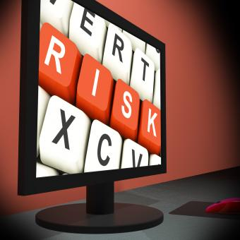 Free Stock Photo of Risk On Monitor Shows Unstable Situation