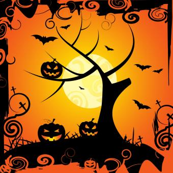 Free Stock Photo of Halloween Tree Means Trick Or Treat And Celebration