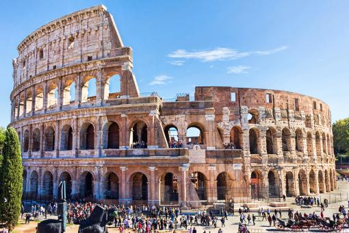 Free Stock Photo of Ruins of the colosseum in Rome