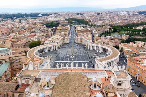 Free Stock Photo of Famous saint peter square in vatican