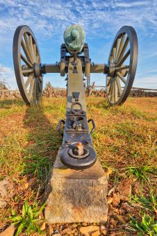 Free Stock Photo of Gettysburg Cannon - HDR