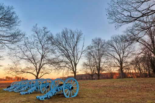 Free Stock Photo of Valley Forge Cannon Twilight - HDR