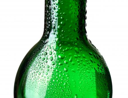 Free Stock Photo of Closeup of green bottle with water drops
