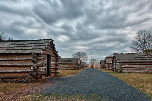 Free Stock Photo of Valley Forge Cabin Trail - HDR