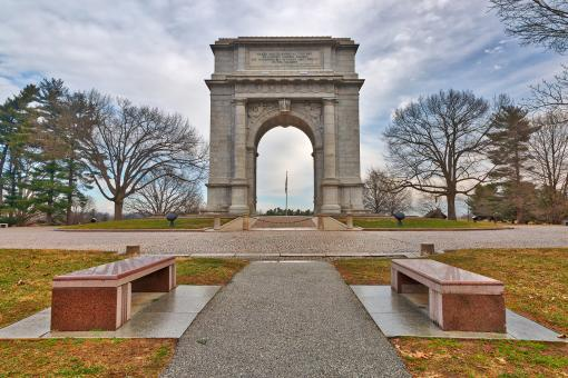 Free Stock Photo of Valley Forge National Memorial Arch - HDR