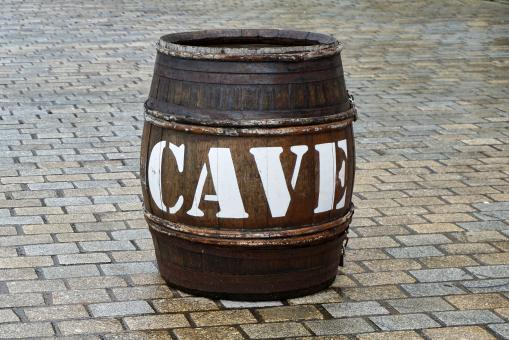 Free Stock Photo of Wooden Barrel - CAVE
