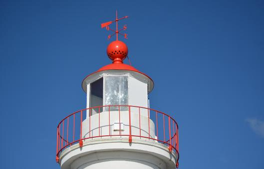 Free Stock Photo of Top of a Lighthouse