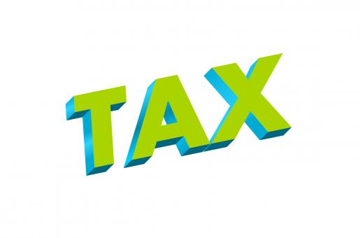 Free Stock Photo of Tax Text Illustration