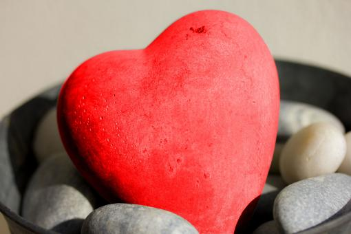 Free Stock Photo of Stone Heart